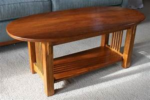 oval mission coffee table coffee tables ideas With small mission style coffee table