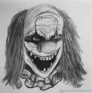 Scary Evil Clown Pencil Drawings