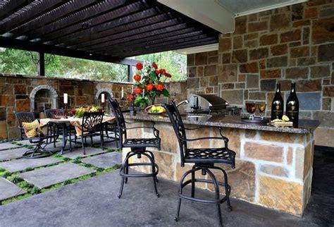 amenagement cuisine exterieure aménagement jardin extérieur et idées déco cosy en 40 photos