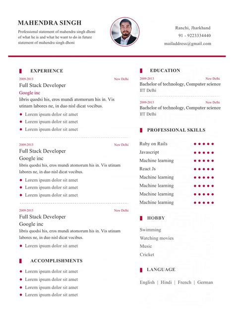 Template My Resume by Resume Format My Resume Format Free Resume Builder