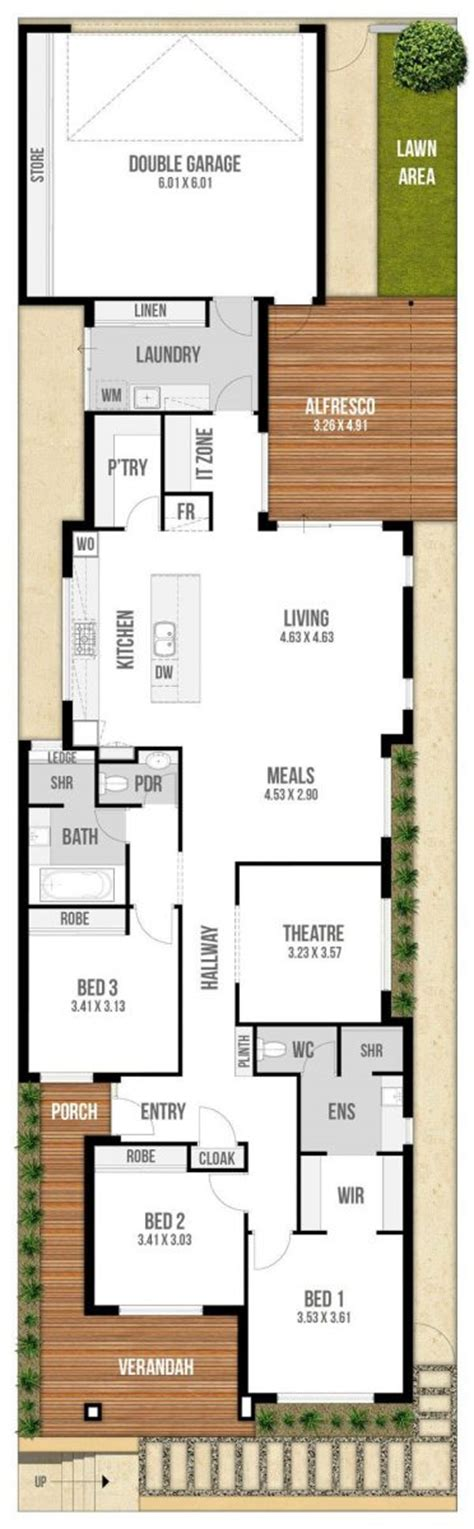Narrow Lot House Plans With Rear Garage by Floor Plan Friday Narrow Block With Garage Rear Access