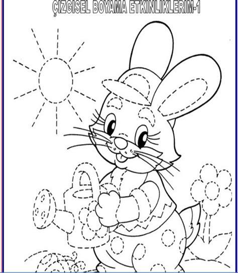 Tavşan Boyama Eğitimhane Resimlere Göre Ara Red