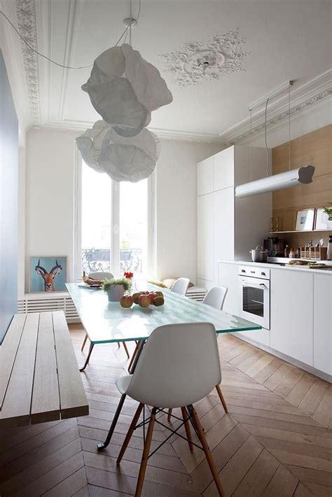 cuisine dun appartement haussmannien  paris dans
