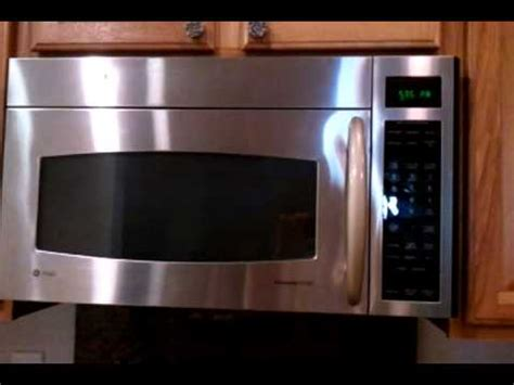 ge profile spacemaker g e profile microwave oven demo of the moving vent