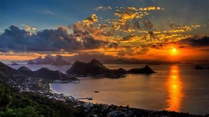 Rio Janeiro Wallpapers Definition Brazil Computer Sunset
