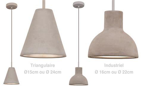 luminaire ilot cuisine suspension béton un luminaire brut de décoffrage