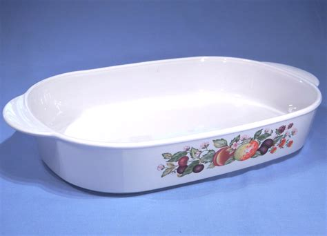 corning ware autumn fruits oven  table cooking dish serving dish collectable china