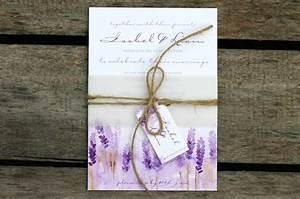 Lovely lavender wedding ideas with ivy ellenivy ellen for Cheap wedding invitation belly band