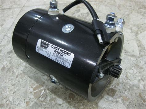 Electric Winch Motors by Genuine Warn 64635 New Replacement 12 Volt Electric Winch