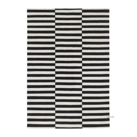 dining table rug easy to clean ikea stockholm black white broken stripe area rug mat wool