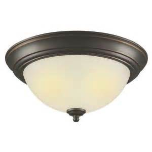 hton bay 2 light outdoor oil rubbed bronze flushmount