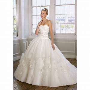 ball gown strapless organza ruched flowers ribbons off With organza ball gown wedding dress