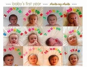 Baby Monthly Picture Collage  Pics Every Month To Document