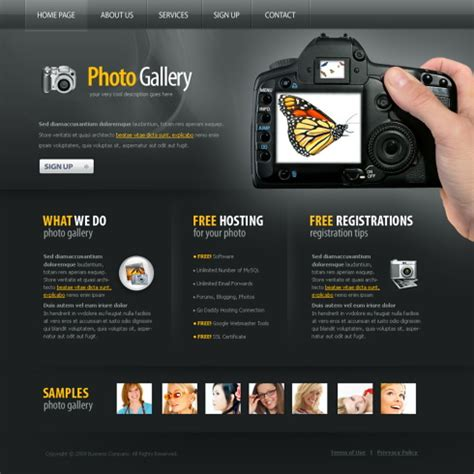 photo gallery xhtml template  art photography