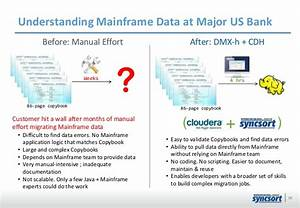 how to leverage mainframe data with hadoop bridging the With mainframe to hadoop migration resume