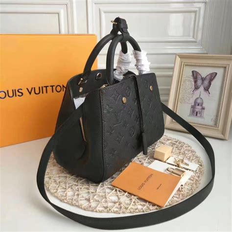 louis vuitton montaigne bb noir aaa handbag