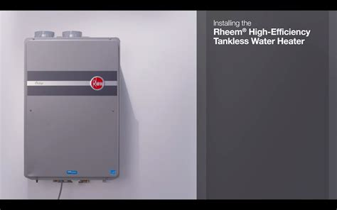 Installing A Rheem Prestige Series Condensing Tankless