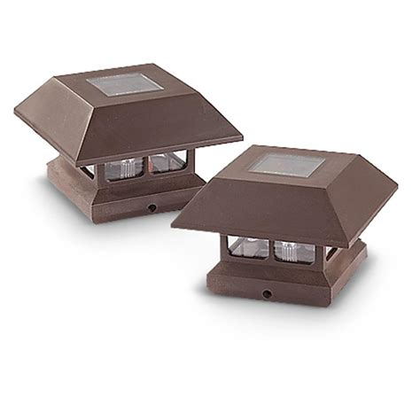 castlecreek solar deck post cap lights 2 pack 233713
