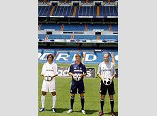 Raúl, Beckham y Zidane presentan la nueva camiseta del