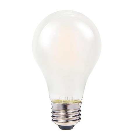 4 led light bulbs clearly led 60w equivalent frosted warm white a19 dimmable