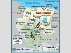 Suriname Map and Suriname Satellite Images
