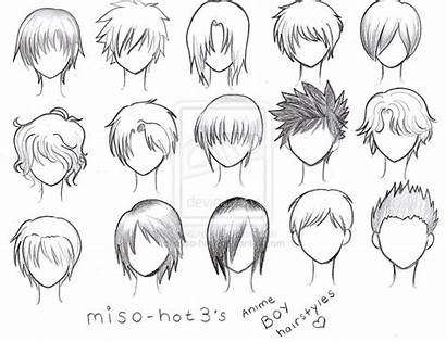 Boy Hair Deviantart Reference Hairstyles Anime Messy