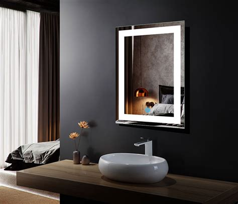 Backlit Bathroom Mirror Canada by 24 X 32 In Vertical Led Bathroom Silvered Mirror With