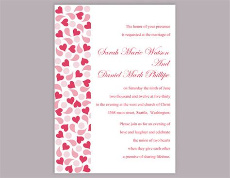 wedding invitations with hearts wedding invitation templates wblqual com