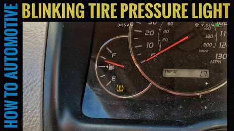 Tire Pressure Light Blinking by How To Diagnose A Blinking Tire Pressure Light On A Toyota