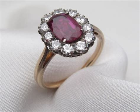 vintage ruby wedding ring vintage ruby halo engagement ring