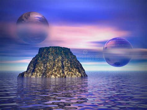 Other worlds stock illustration. Image of purple, ripple ...