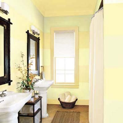 painting ideas for small bathrooms 4 enlarge a bath with sideways stripes 15 decorative