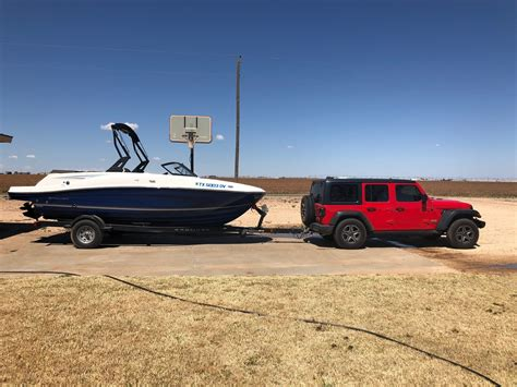 Tow A Boat With Jeep Wrangler Unlimited wrangler jl boat towing experience report 2018 jeep