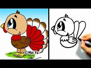 Great for thanksgiving cute lil turkey. Mei yu fun 2 draw ...