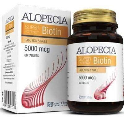 alopecia biotin 5000 mcg 60 kapsül