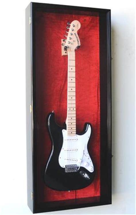 guitar display case cabinet  uv acrylic door lockable vertical custom display case