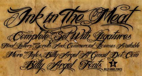 top   tattoo fonts