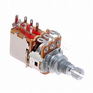 Electric Guitar Potentiometer Pot B 250k Tone Push Pull Switch With Nut Washer 634458764421