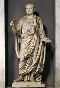 3. Ancient Rome (81 CE): statue of Titus wearing a toga ...