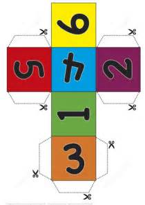 paper dice cube template  numbers  printable