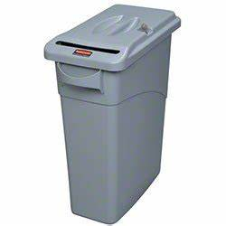 rubbermaid 9w25 00 lgray gray slim jim confidential With rubbermaid slim jim confidential document container