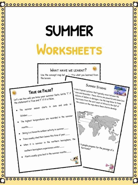 summer worksheet  kids  worksheet spreadsheet