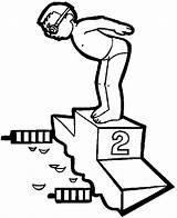 Coloring Pages Exercise Swimmer Doing Olympic sketch template