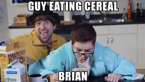 Cereal Guy Meme Generator - guy eating cereal brian imgflip