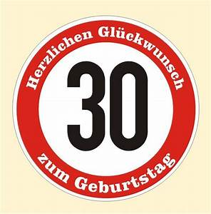 30 Dinge Zum 30 Geburtstag : verkehrsschild 30 geburtstag aufkleber verkehrszeichen stra enschild birthday ebay ~ Sanjose-hotels-ca.com Haus und Dekorationen