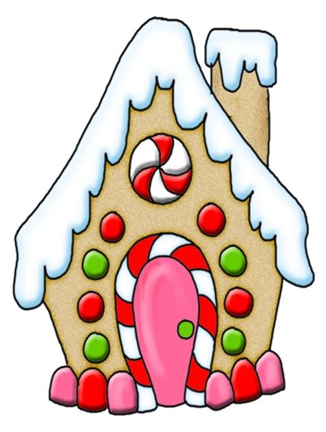 Gingerbread House Clip Gingerbread House Digital Clipart Clip