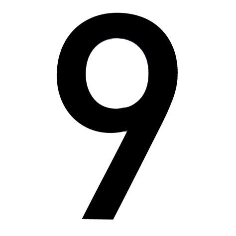 Storage Ideas For Kitchens - black pvc 150mm house number 9 departments diy at b q