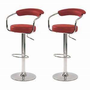 Chaise De Bar Rouge : tabouret de bar avec accoudoirs rouge absolument design ~ Teatrodelosmanantiales.com Idées de Décoration