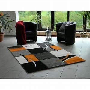 Tapis C Discount : tapis design pour salon orange 120 x 170 cm achat ~ Teatrodelosmanantiales.com Idées de Décoration