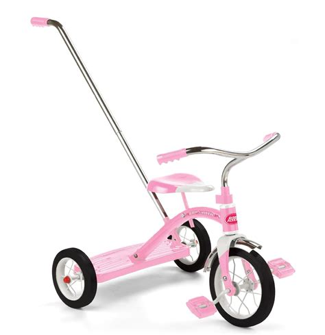 radio flyer dual deck tricycle pink for ages 2 4 years read more